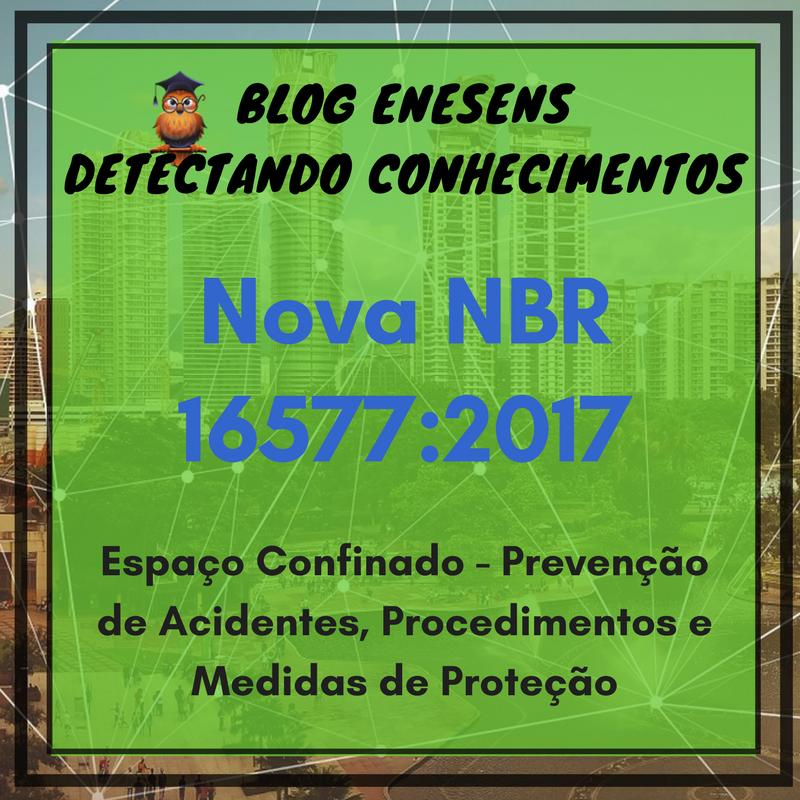 A nova NBR 16577 sobre Espaços Confinado